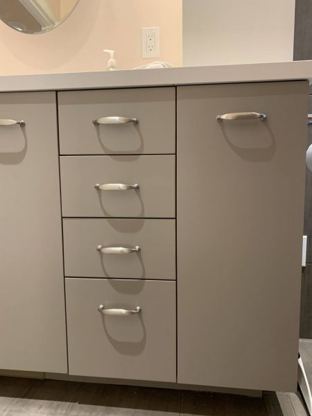 1AD Studio seattle bathroom remodel aging in place drawer cabinets