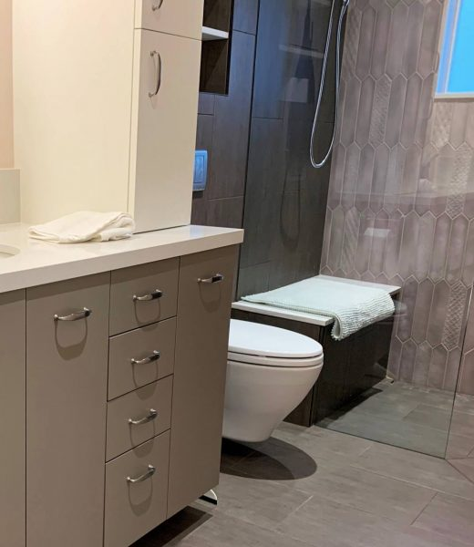 1AD Studio seattle bathroom remodel aging in place wall mount toilet