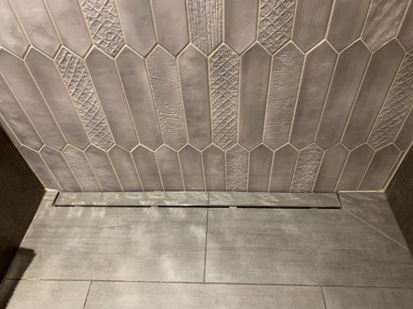 1AD Studio seattle bathroom remodel walk in shower linear drain