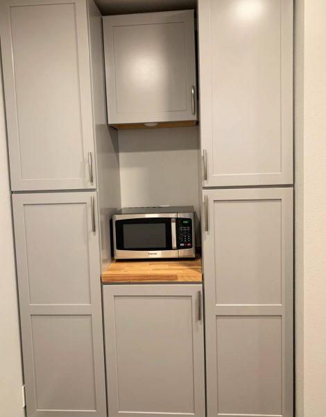 ADU storage kitchen cabinets